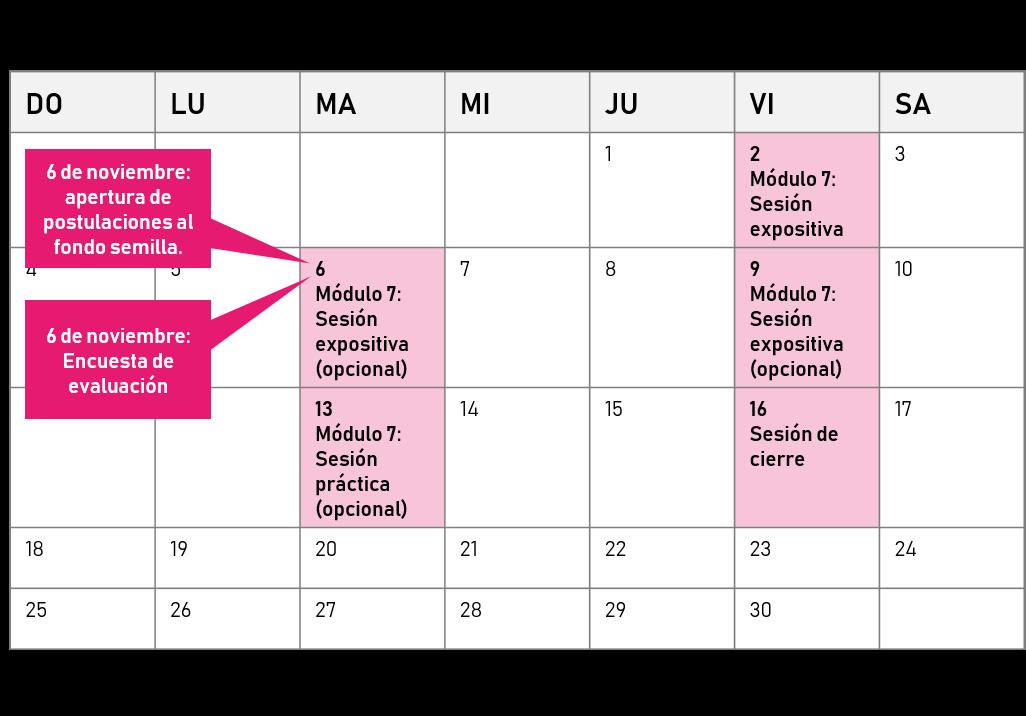 Cronograma noviembre