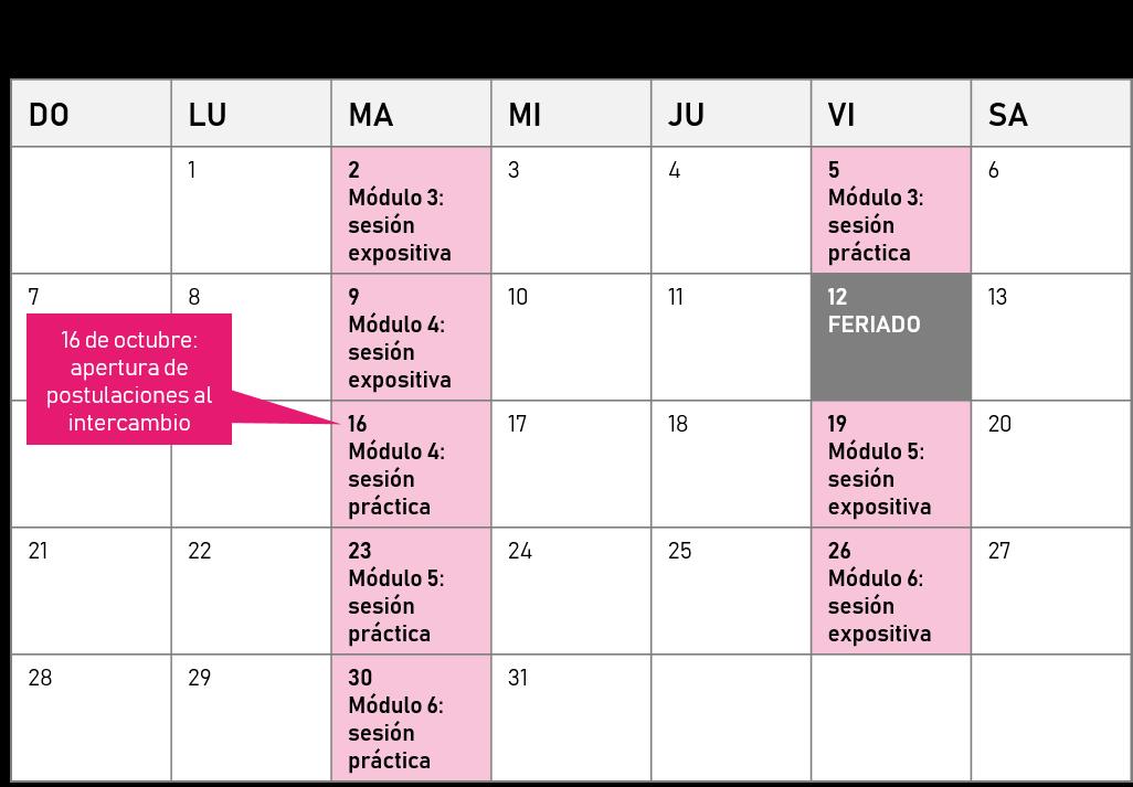 Cronograma octubre
