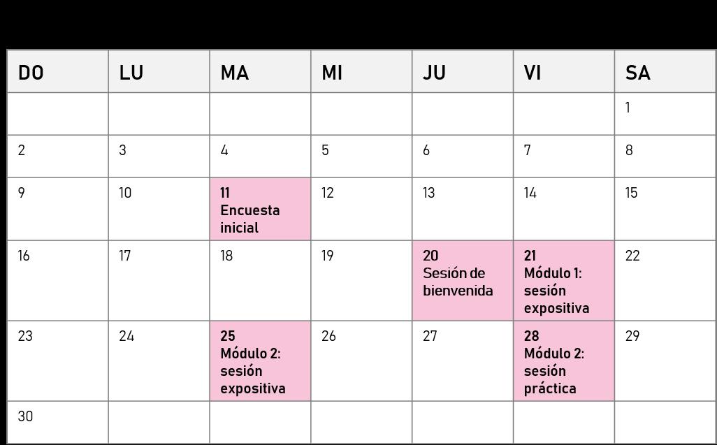 Cronograma septiembre-2